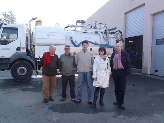 RPB visite la station Veolia à  Beaucaire
