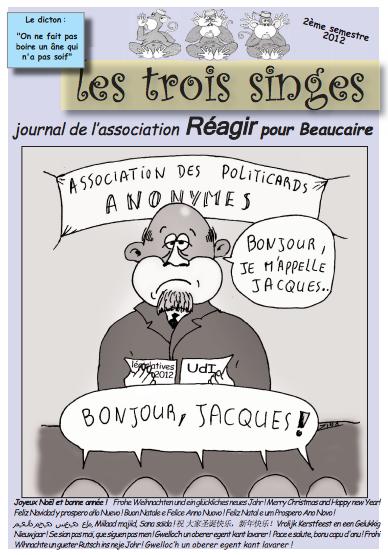 Journal les Trois Singes décembre 2012