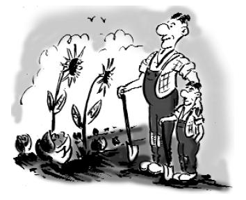 Un jardin : un lien inter générations