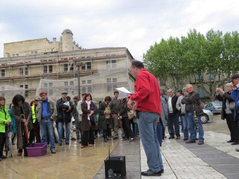 Discours du 1er mai, place de la mairie, Beaucaire