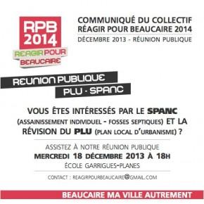 Réunion publique PLU - SPANC