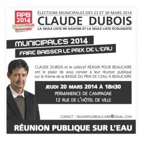 Réunion publique : faire baisser le prix de l'eau à Beaucaire